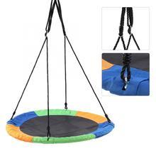 Child Swing 100cm Large Capacity Round Hanging Tree Swing Chair Kid Backyard Play Play