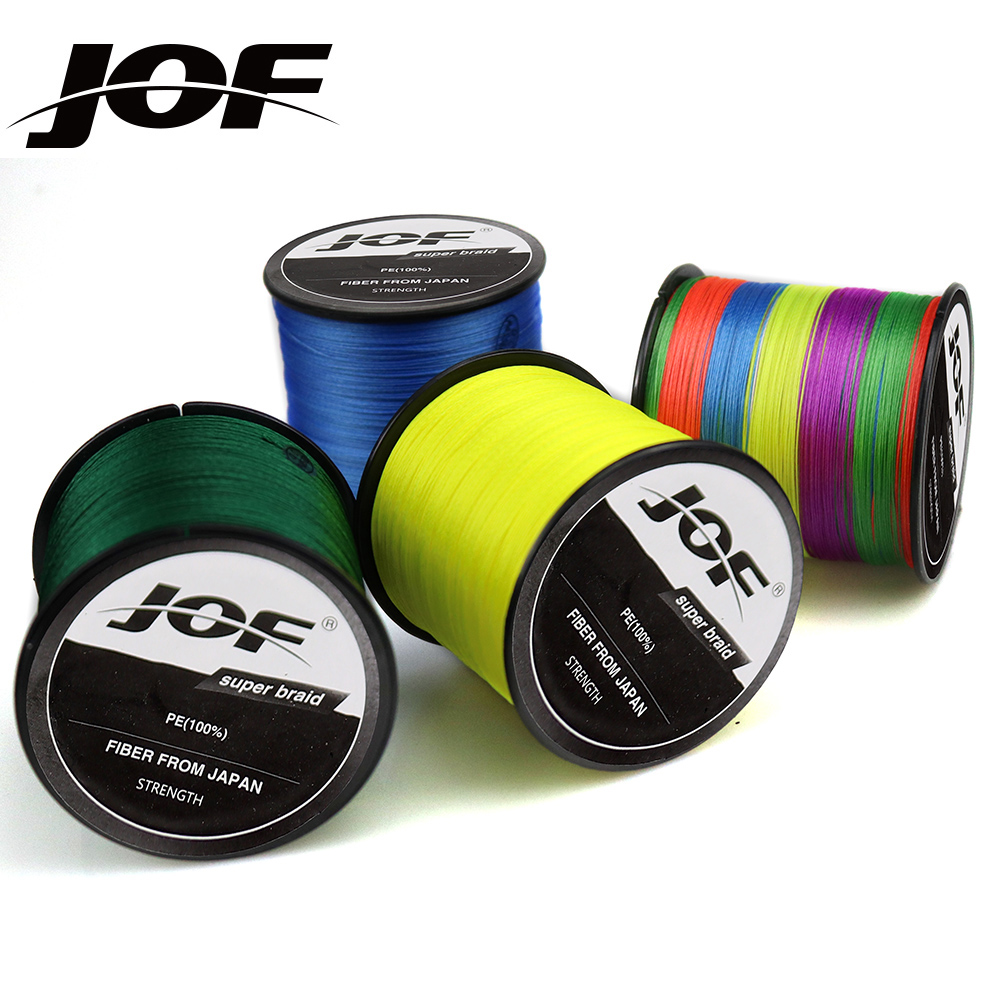 JOF 9 Strands / 8 Strands / 4 Strands 300M PE Braided Fishing Line Super Strong Multifilament Thread for Carp Fishing 10LB-120LB