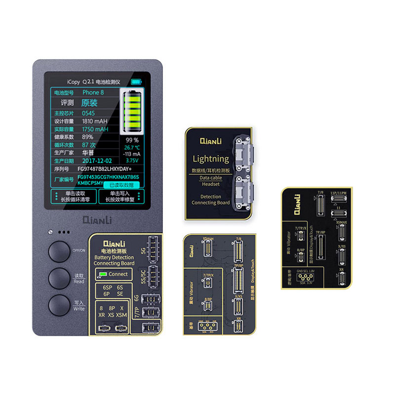 Qianli ICopy Plus For IPhone 11 Promax 11 Pro Xsmax Xs X 8 7 LCD Screen Ture Tone /Virbrator Programmer Built In Battery 2.0