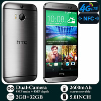 Used Smartphones HTC M8 4G-lte Unlocked 5.0inch Android 2GB RAM 32GB ROM Cellphone 1080P 1080x1920 pixels NFC Mobile Phones 1