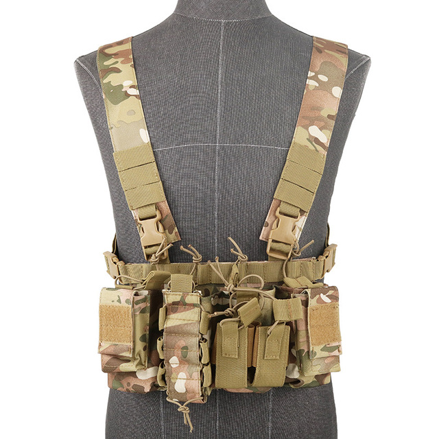 Functional Tactical Chest Bag Airsoft Hunting Vest Waist Pack Military Magazine Radio Harness Pouch Holster Army Chest Rig Bag 3
