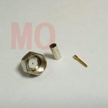 500pcs F Male Plug Straight Crimp RG174 LMR100 RG316 RF Connector Selling