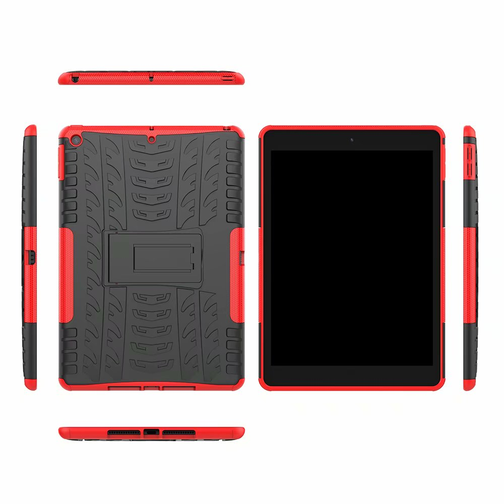 Shockproof Hybrid-Armor Apple Kids Child Case-Cover Rugged iPad Defender for Heavy-Duty
