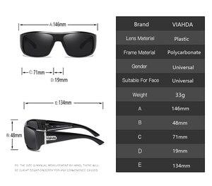 Image 4 - VIAHDA  Men Polarized Sunglasses Driving Sport Sun Glasses Fashion For Men Women   Sun Glasses Travel Male Female  Square Color