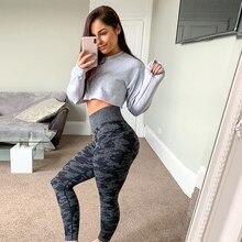 Yoga Pants Tights Seamless-Leggings Fitness Sport Running High-Waisted Women Girl Gym