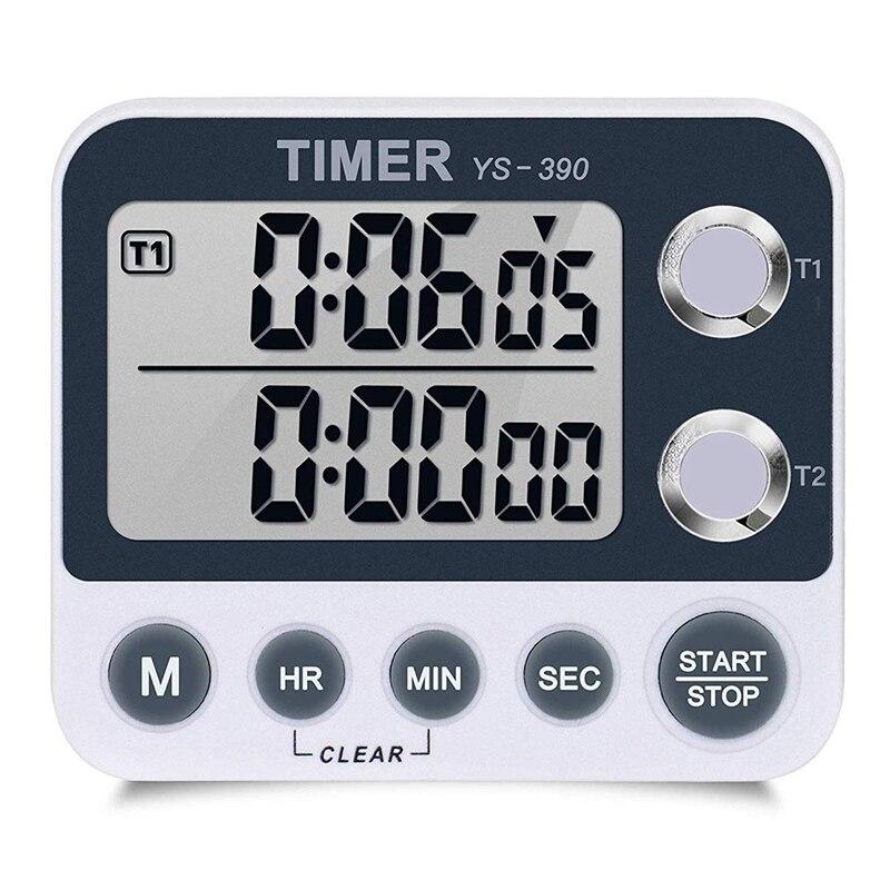 Temporizador Digital para cocina, cronómetro magnético trasero, pantalla grande, alarma ruidosa, cuenta arriba y abajo para cocinar, juegos deportivos para hornear Ultra grande, pantalla de 3