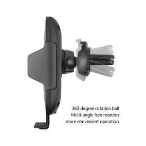 Image 4 - 10W Qi Wireless Car Charger Phone Holder Auto Clamping Fast Charging Infrared Sensor  for iPhone X XS XR Max 8 Samsung S8 S9 S10