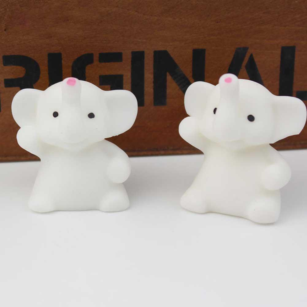 None Cute Mini Calf Elephant Toy Teen Reduce Pressure Pure Color Desktop Decoration Cartoon Gift