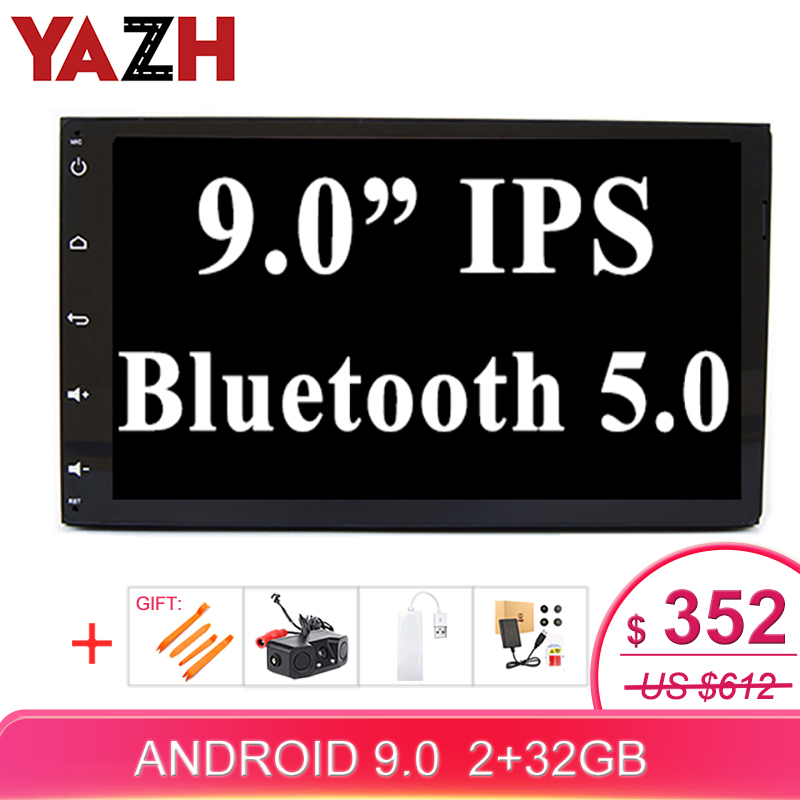 YAZH 2 Din Android Car Stereo For <font><b>Toyota</b></font> Fortuner 2016 / Sienna 2015 / Prius /<font><b>corolla</b></font> <font><b>2018</b></font> GPS <font><b>Multimedia</b></font> Radio AUX Bluetooth image