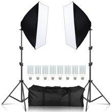 Softbox Kontinuierliche Beleuchtung Kit 20W Professionelle Fotografische Foto Studio Mit 4 Lampe Halter