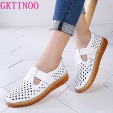 GKTINOO Womans Shoes Fashion 2020 Solid Hook & Loop Cozy Genuine Leather