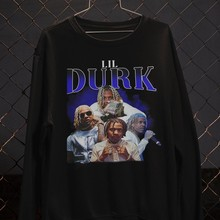 Lil durk 90 tee s do vintage camisa rap clássico amantes da música na moda t retro 90 camiseta hip hop