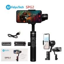 FeiyuTech SPG2 3 Eixo Cardan Handheld Estabilizador Feiyu Splash proof Design para Smartphone iphone Xs X 8 7 galaxy S9 + Gopro 7 6