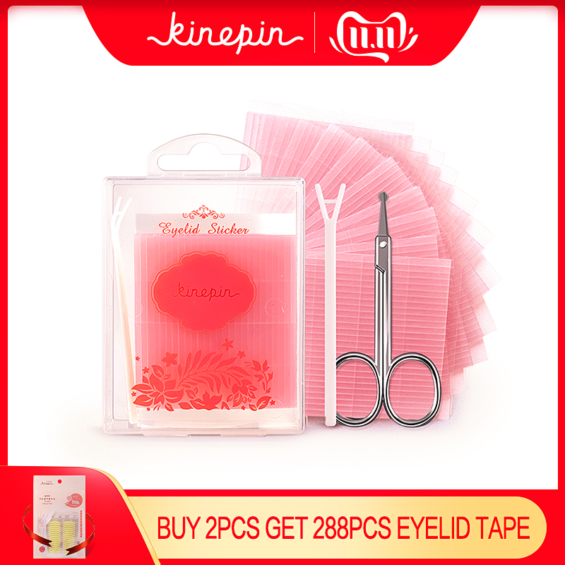 572pcs Double Sides Eyelid Stickers Magic Stretch Fiber Adhesive Medical Eye Tape Strips For Natural-looking Creased Eyelid