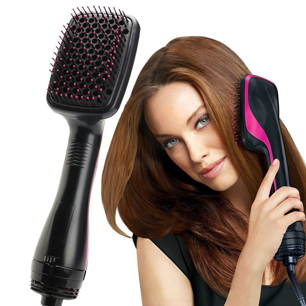 Hair Volumizer Dryer Brush Hair Dryer Straightener Comb Hot Air Brush Multifunctional Comb Wet & Dry Hair Use Travel Blow Dryer