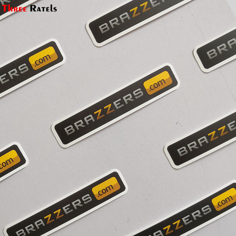 Three Ratels 50pcs Brazzers  Logo Pvc Waterproof Window Laptop Trunk Auto Motorcycle Car Decal Car Sticker