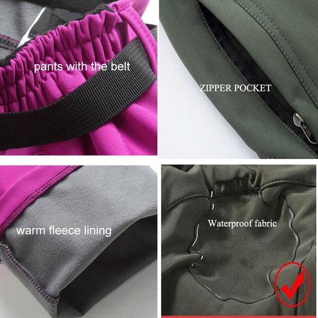 Женские походные брюки тёплые и непромокаемые из мягкого материала 5