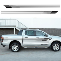 2 PC stripes pick up truck tapered vinyl decal hood graphic for camo van Ford ranger 2012 2013 2014 2015 2016