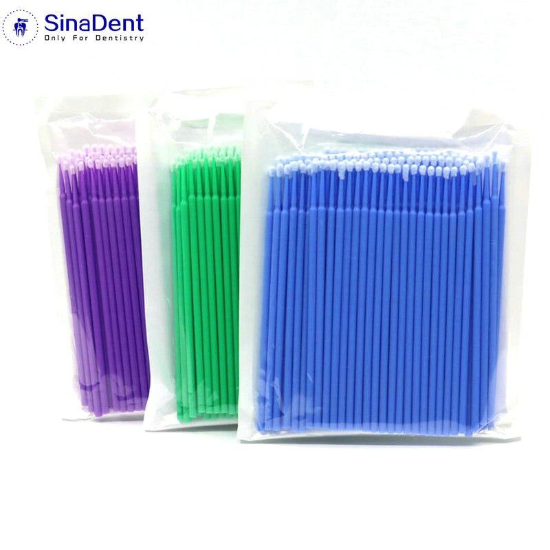 300 Pcs/Pack dentaire jetable coton-tige microbrosses applicateur dentaire bâtons pour la dentisterie