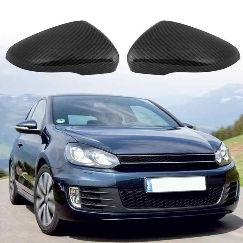 Vodool 2pcs Car Rearview Mirror Cover Carbon Fiber Pattern Auto Door Side Wing Mirror Covers Caps For Vw Golf Gti Mk6 2009 2013 Aliexpress