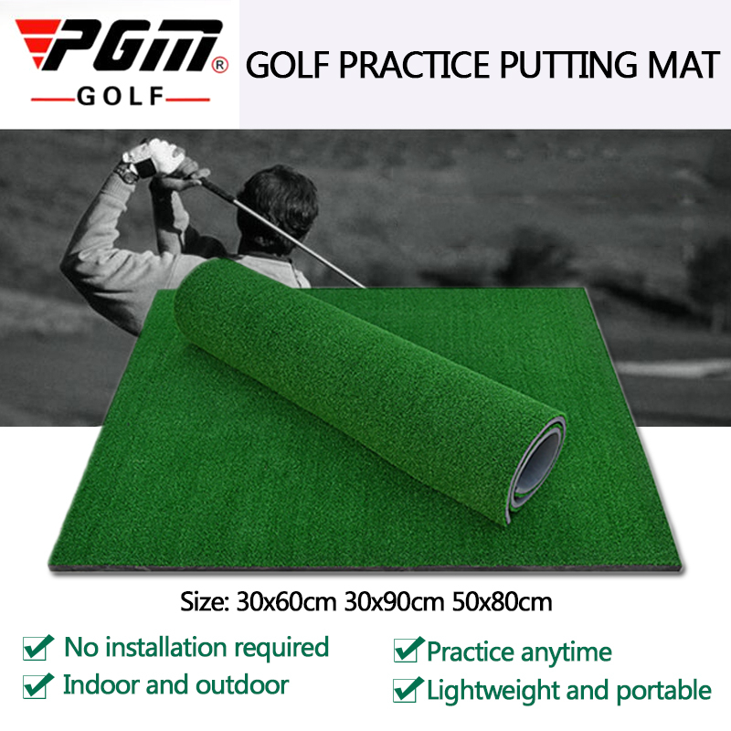 PGM Golf Practice Grass Mat Indoor Training Hitting Pad Backyard With Rubber Tee Outdoor Mini Golf Training Aids Accessories