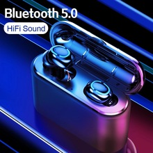 New TWS Bluetooth 5.0 Earphones 8D Stereo Sound Wireless Earphones With Mic Charge box Sport Earbuds LED Power Display Headset orunjo s2 tws wireless bluetooth earphones v5 0 touch control mini earbuds sport hifi stereo headset with mic charge power box