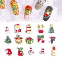 5 шт/лот украшения из сплава в рождественском стиле для ногтей
