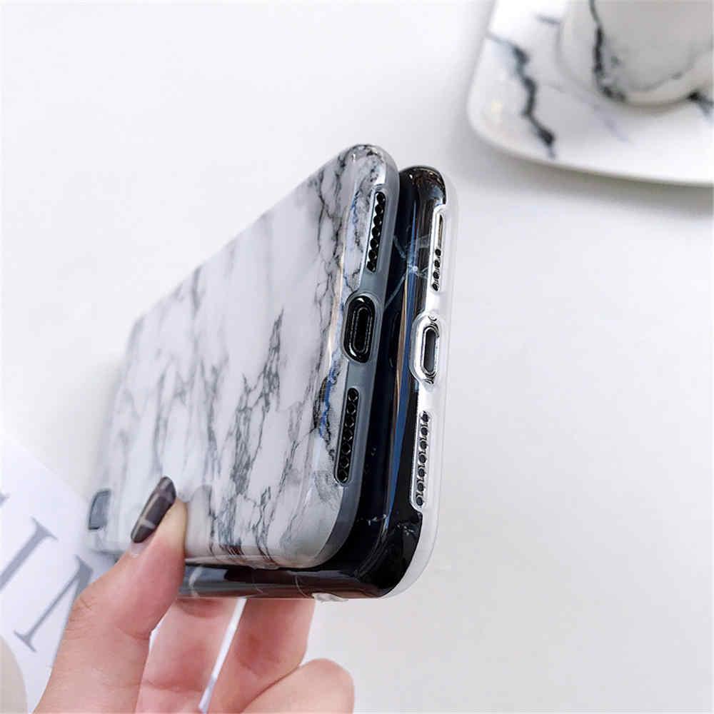 Роскошный мраморный силиконовый чехол для телефона iphone 11 Pro XS Max X XR 7 8 6 6S Plus, мягкий чехол из ТПУ чехол для iphone 8 7 Plus Funda