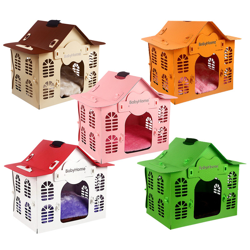 teddy-dog-kennel-washable-dog-supplies-small-pet-house-waterproof-dog-bed-camas-de-princesa-breathable-solid-removable-cover