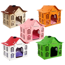 Teddy Dog Kennel Washable Supplies Small Pet House Waterproof Bed  Camas De Princesa Breathable Solid Removable Cover