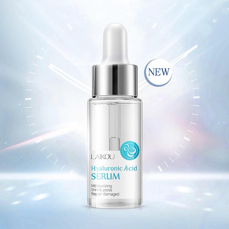 LAIKOU Hyaluronic Acid Serum Moisturizing Shrink Pores Essence Anti Wrinkle Facial Serum Whitening Repair Damaged Skin Care 15ml