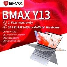 B max Y13 dizüstü 13.3 inç dizüstü bilgisayar Windows 10 8GB LPDDR4 256GB SSD 1920*1080 IPS Intel N4120 dokunmatik ekran dizüstü bilgisayarlar