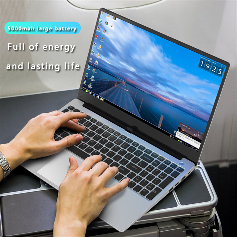 15.6 Inch Intel i7 Laptop 8GB/16GB RAM 512GB 1TB HDD Metal Body 1080P Windows 10 layout Keyboard Dual Band WiFi Gaming Laptop