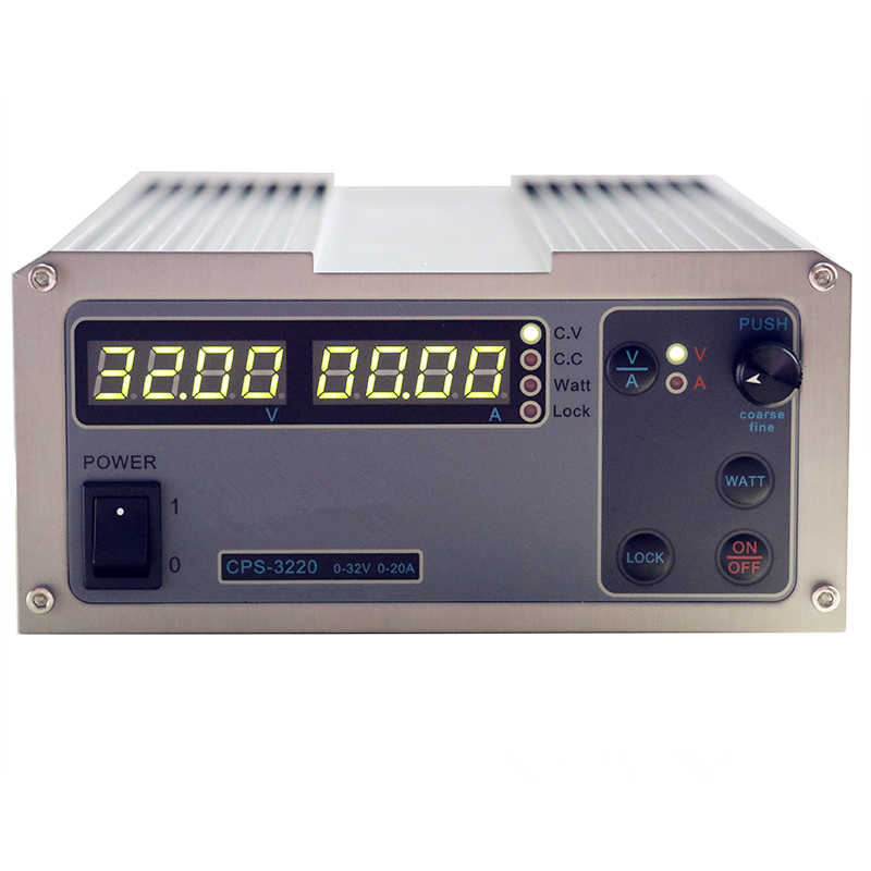 Бесплатная доставка Высокая точность компактный цифровой настраиваемый источник питания постоянного тока CPS-3220 OVP/OCP/OTP 32V20A 220V 0,01 V/0.01A кабель стандарта ЕС
