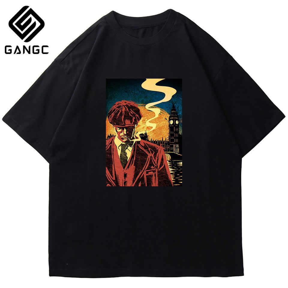 Tommy Shelby Ontwerp O-hals Mannen Korte Mouwen Tee Shirts Puur Katoen Vintage T Shirts Print Streetwear Peaky Blinders t-shirts