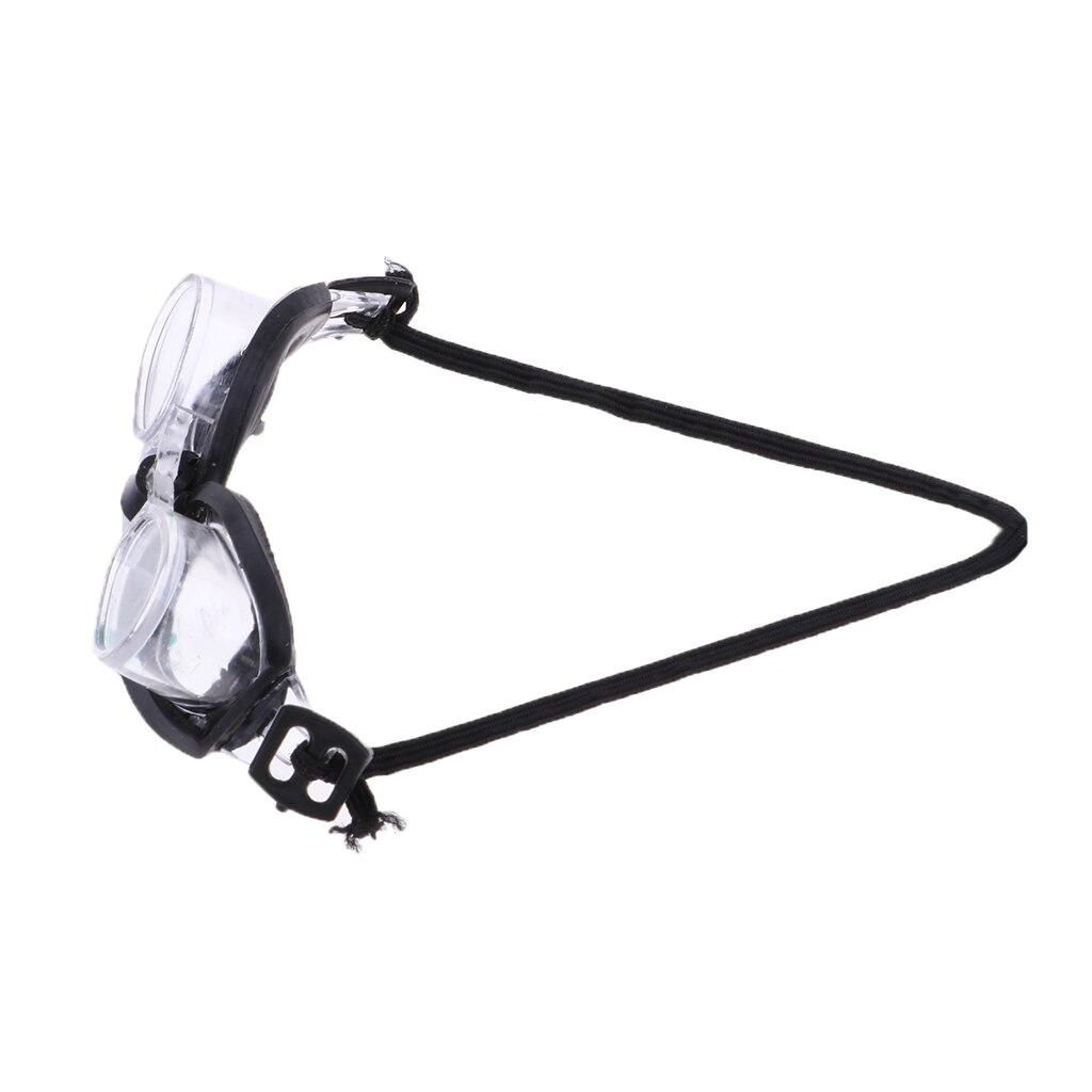 Schwarz Seite Schwimmen Brille Sommer Realistische Gläser Für 1/6 Blythe Puppen
