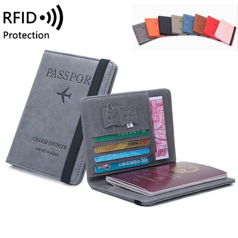 1Pc Family Travel Organiser Passport Document Holder RFID Card Wallet Pouch