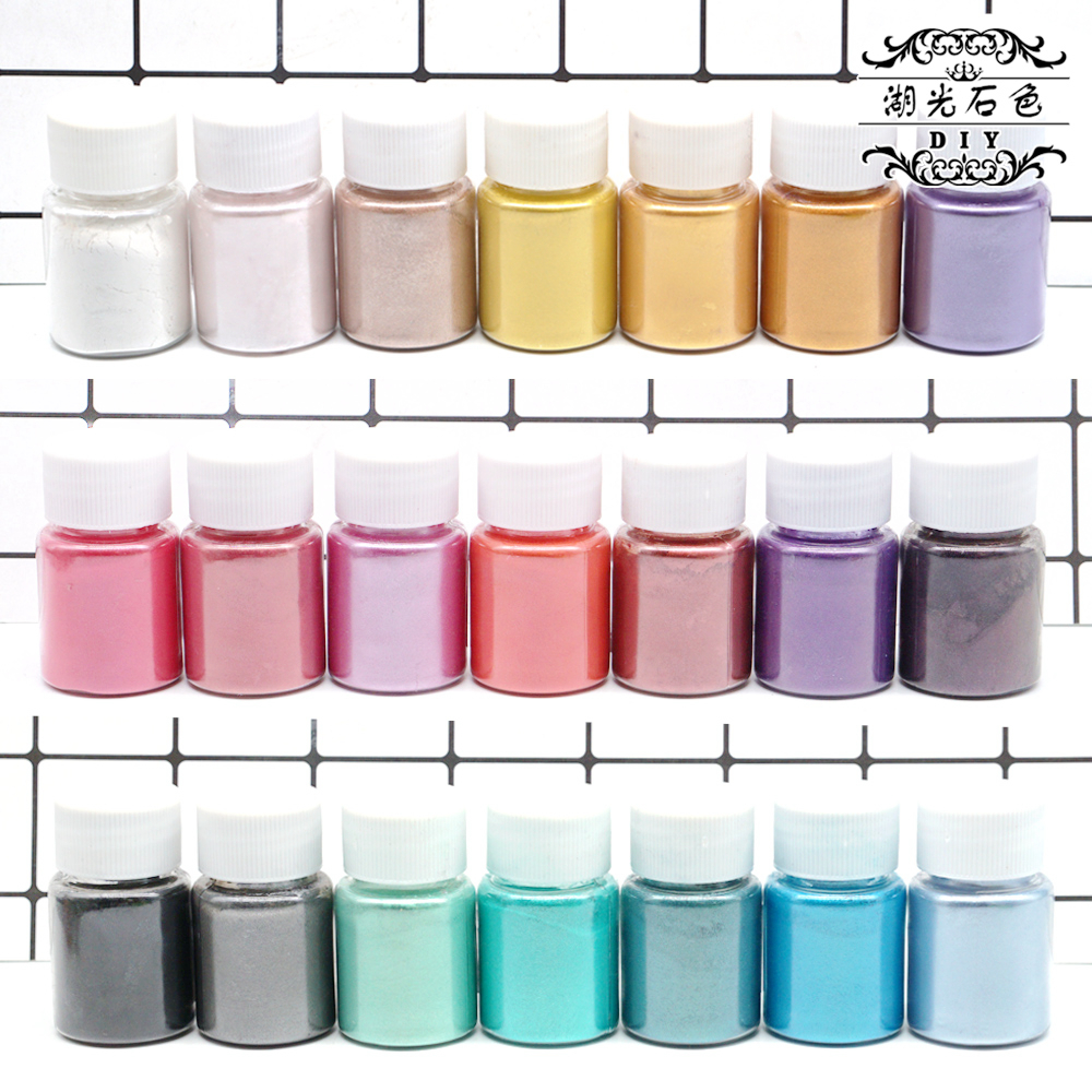 Pearl Powder DIY Crystal Epoxy Material Mica Mermaid Ji Crystal Clay Filler Pearl Pearl Powder Pigment Powder Paint