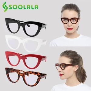 Image 5 - SOOLALA 4 Pairs Anti Blau Licht Katze Auge Lesebrille Frauen Brillen Gafas De Lectura + 1,0 1,25 1,5 1,75 zu 4,0