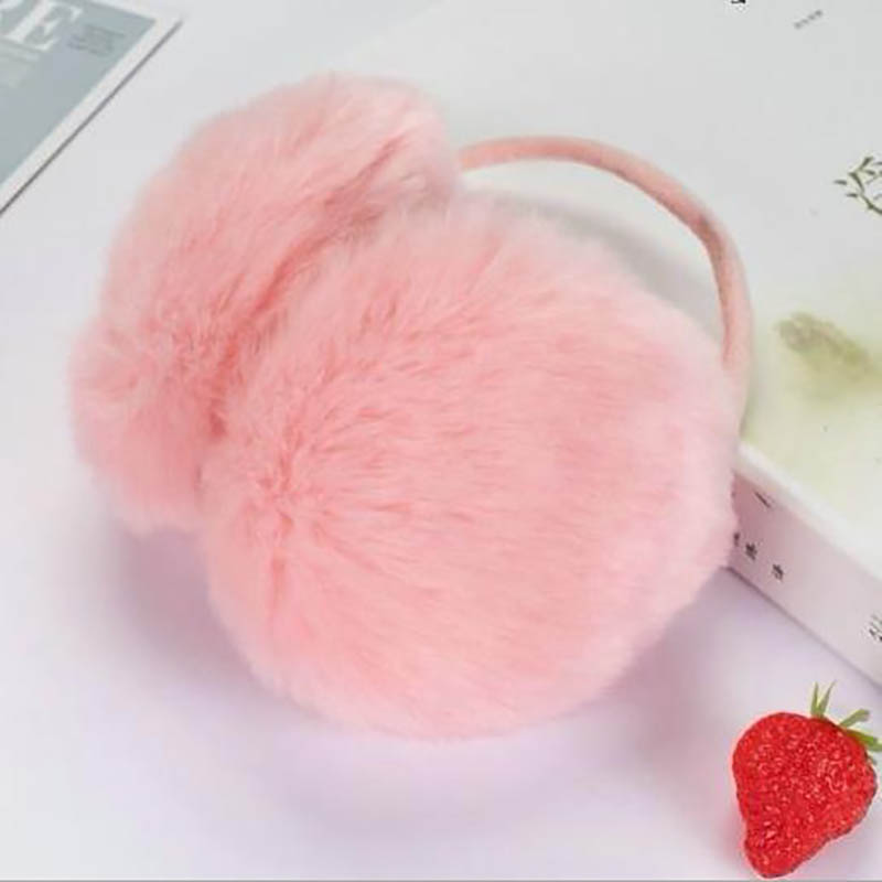 Calymel Women Warm Headphones Faux Fur Unisex For Grils Earmuffs Winter Winter Warm Outdoor Skiing Warmer