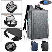 ل 13 14 15.6 16 بوصة حقيبة لابتوب USB شحن حقيبة ظهر مدرسية مكافحة سرقة حقيبة الظهر قدرة عالية السفر حقائب مقاومة للماء