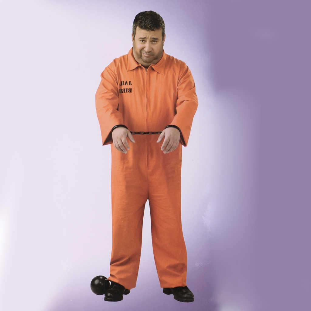 Mahkum Stag Do parti fantezi kostüm erkek erkek mahkum genel turuncu tulum
