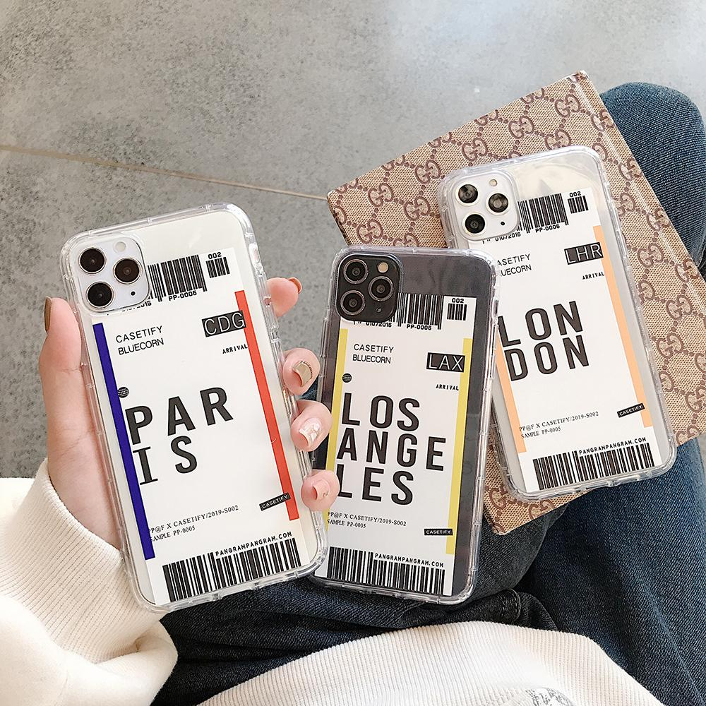Ins Travel Label Country <font><b>Case</b></font> For <font><b>Vivo</b></font> Y3 Y12 Y15 Y17 Y66 Y71 Y75 Y81 Y85 Y91 Y93 Y95 V5S <font><b>V7Plus</b></font> Flight Ticket Letter Soft Cover image