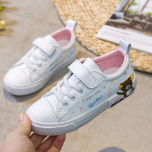 Kids Shoes Girls Toddler Sneakers Solid Color Simple Design Pu Leather Boys Casual Shoes for Children solid color pu thread men's casual shoes