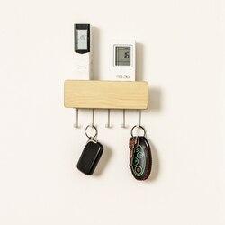 New Arrival wielu klucz organizator i drzwi poczta dla key ring  dekoracyjne drewniane breloczek do powieszenia na ścianie za pomocą 4 haki w Haki i szyny od Dom i ogród na