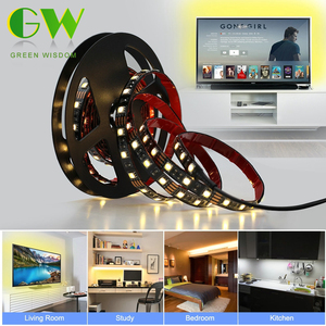5V USB Power LED Strip Light White / Warm White 5050 SMD HDTV Desktop PC Screen Backlight & Bias Lighting 60LEDs/m 0.5M 1M 2M 3M