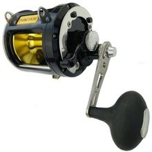 Casting Reel Fishing-Wheel 12000-Series Coil 8-Bearings Black Right-Hand Trolling Max-Power-25kg