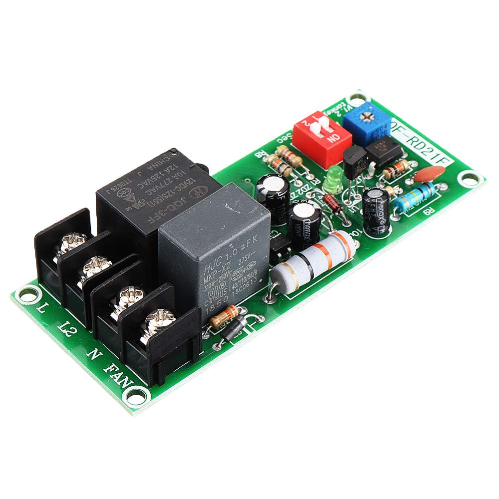 LEORY Delay Relay Module Power RD21F For Delay Off Fan Module AC 100V-220V Time 0.2S-300min Adjustable Delay