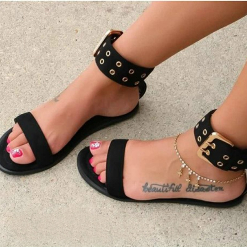 2020 Beach Sandals Women Sandals Transparent Flats Shoes Large Size Female Clear Jelly Shoes Ladies Roman Sandalias Mujer
