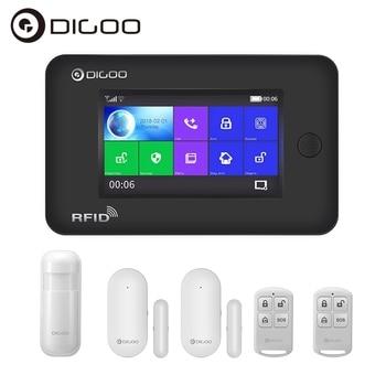 Digoo DG-HAMA All Touch Screen Alexa Version 433MHz GSM&WIFI DIY Smart Home Security Monitor Alarm System Kits APP Control digoo dg hama all touch screen alexa version 433mhz gsm